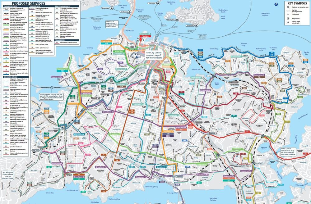 Central Proposed New Bus Network