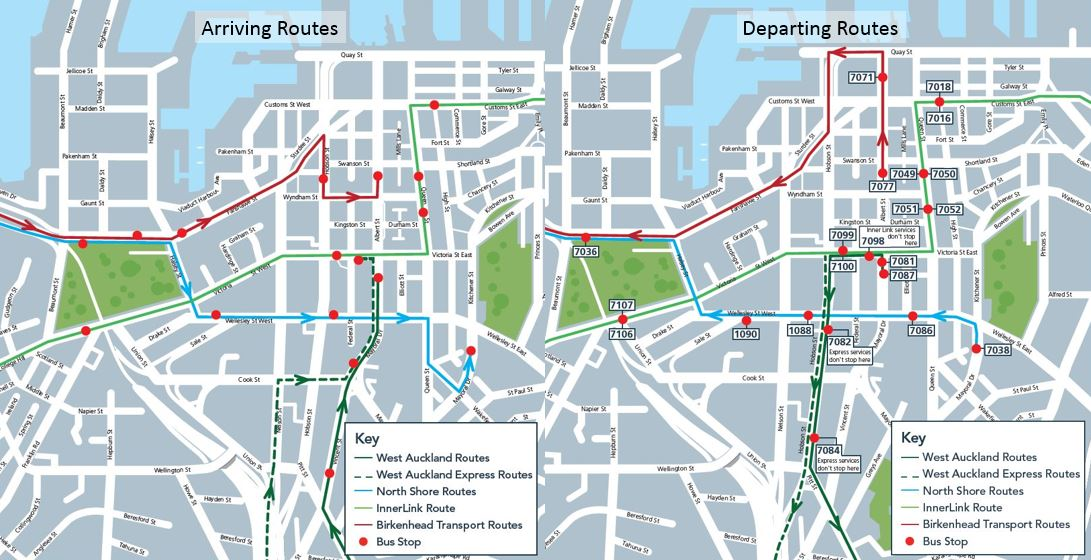 Temporary City Bus Routes