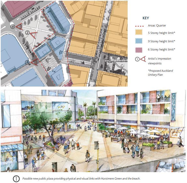 Takapuna Centre Plan - Anzac St carpark concept