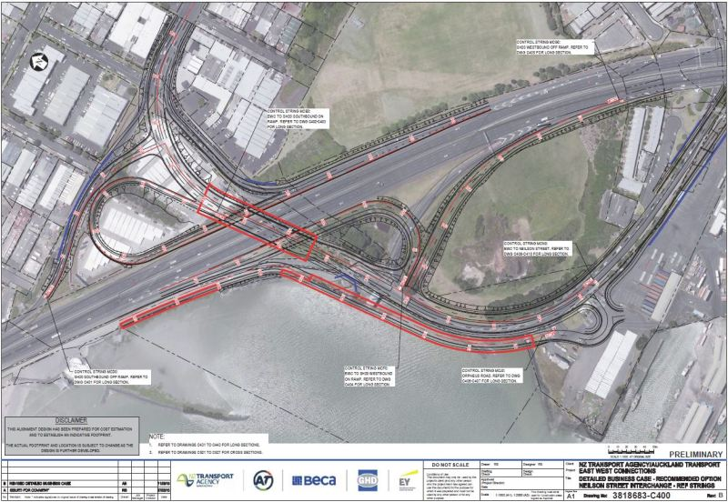 East-West - Neilson St Interchange Recomended Option