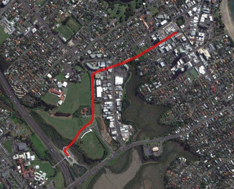 Takapuna Spur LRT idea 2