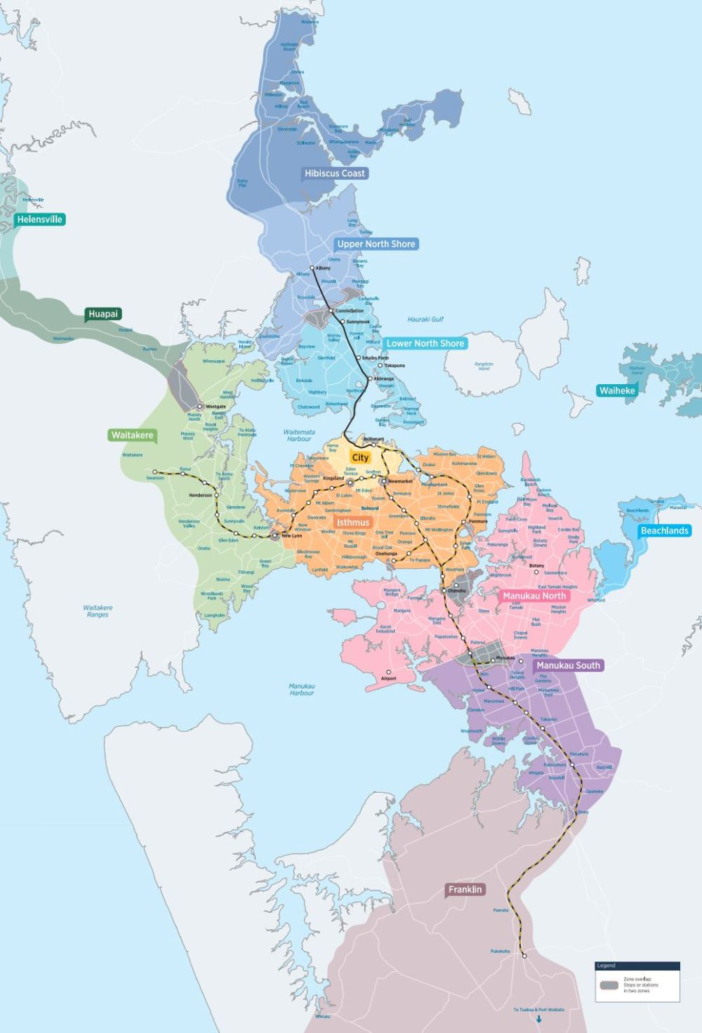 Simplified Fares Map