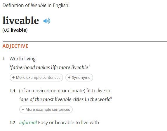 liveability-definition