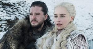 Jon Snow and Daenerys Targaryen in <em>Game of Thrones</em>.