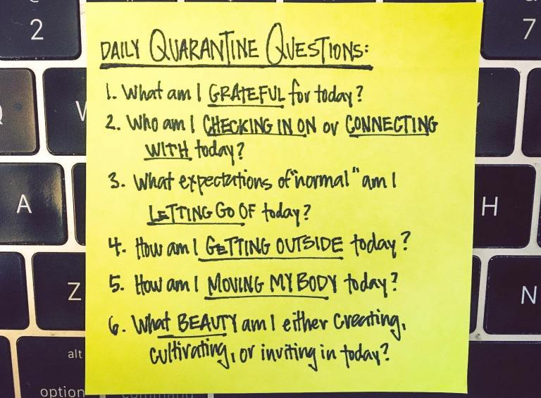 brooke anderson's daily quarantine questions