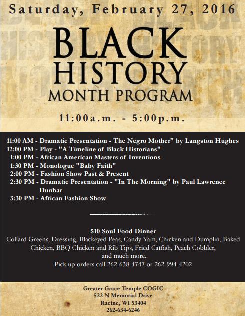 black history program 2016