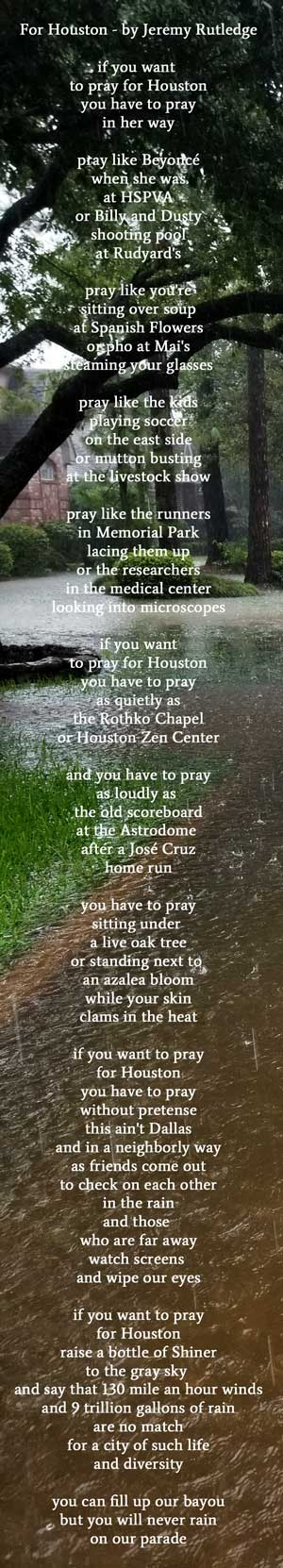 if you want to pray for Houston