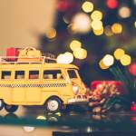 Yellow Christmas Holiday Van