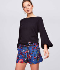 WILDFLOWER TIE WAIST UTILITY SHORTS