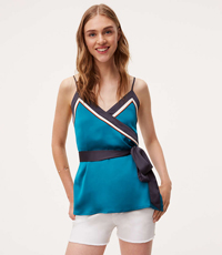BORDERLINE WRAP CAMI