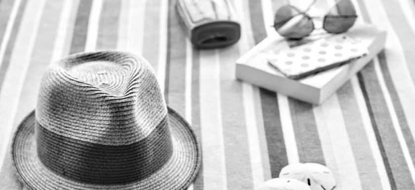 Beach Book Hat Layout