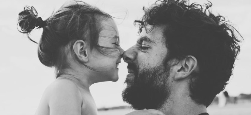 Father Daughter Eskimo Kiss