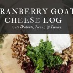 Cranberry Goat Cheese Log