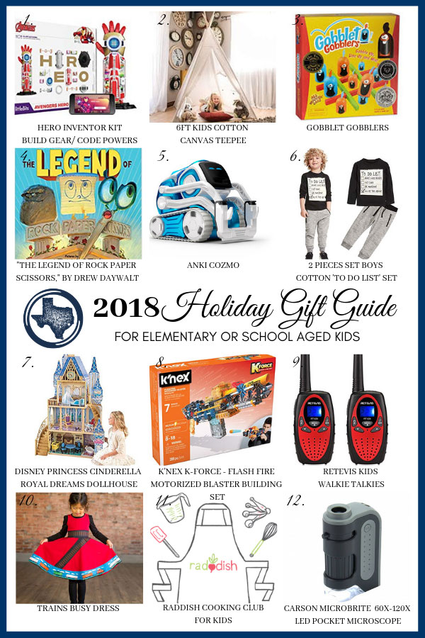 2018 Holiday Gift Guide FOR Elementary or School Aged Kids