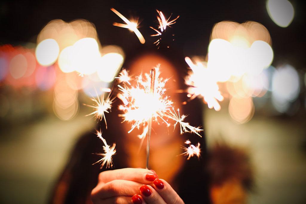 new year's eve sparkler