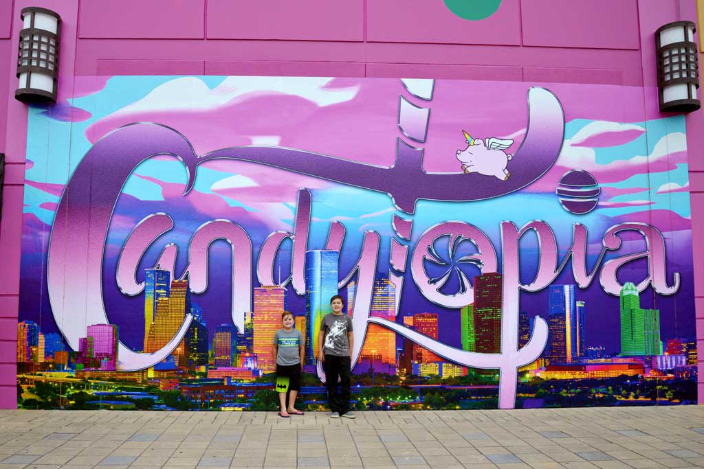 Candytopia Painted wall