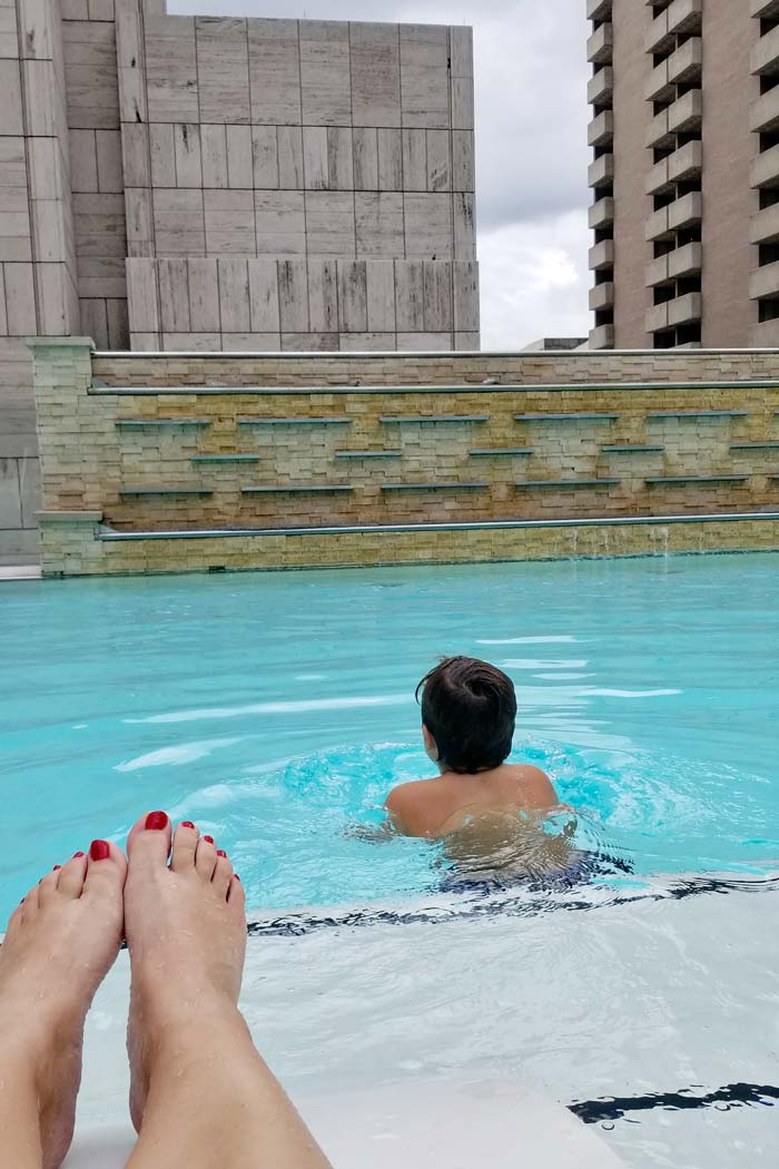 Rooftop Pool at the Adolphus Hotel in Dallas, TX