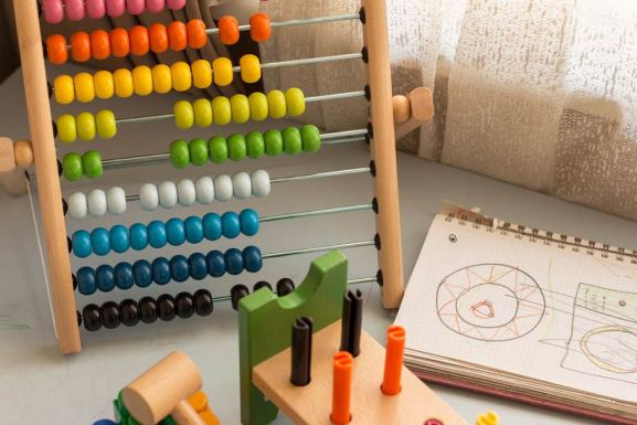 teaching place value rainbow colored abacus