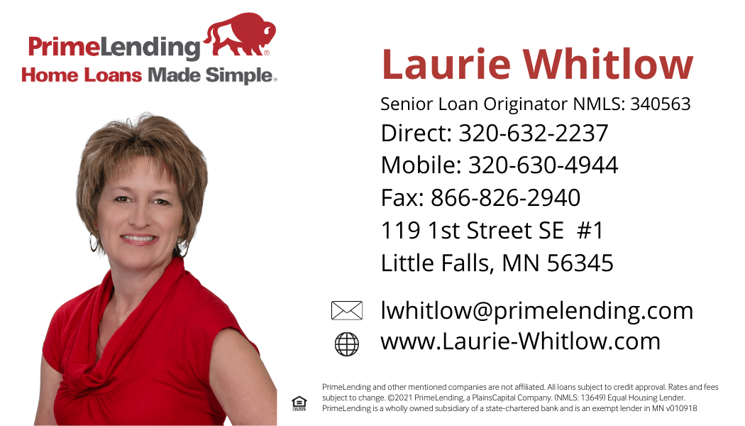 Laurie Whitlow card with disclaimer