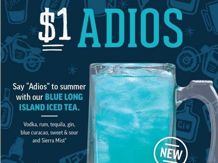 Applebee's Adios Long Island Ice Tea