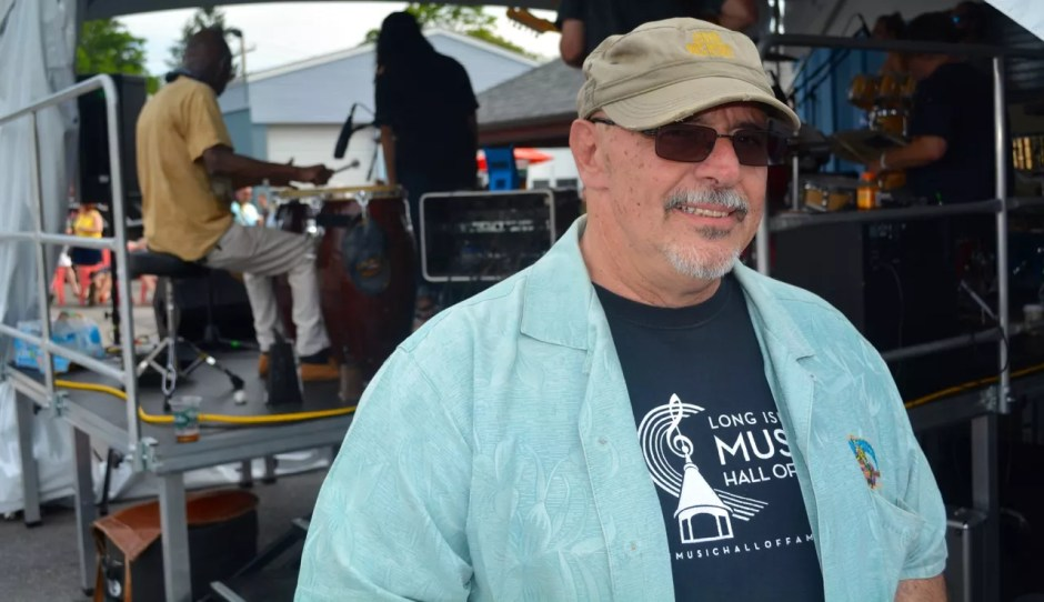 Great South Bay Music Festival organizer Jim Faith at the Blue Point Brewery Friday. (Credit: Michael White)