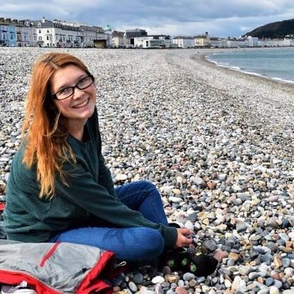 amy on the beach