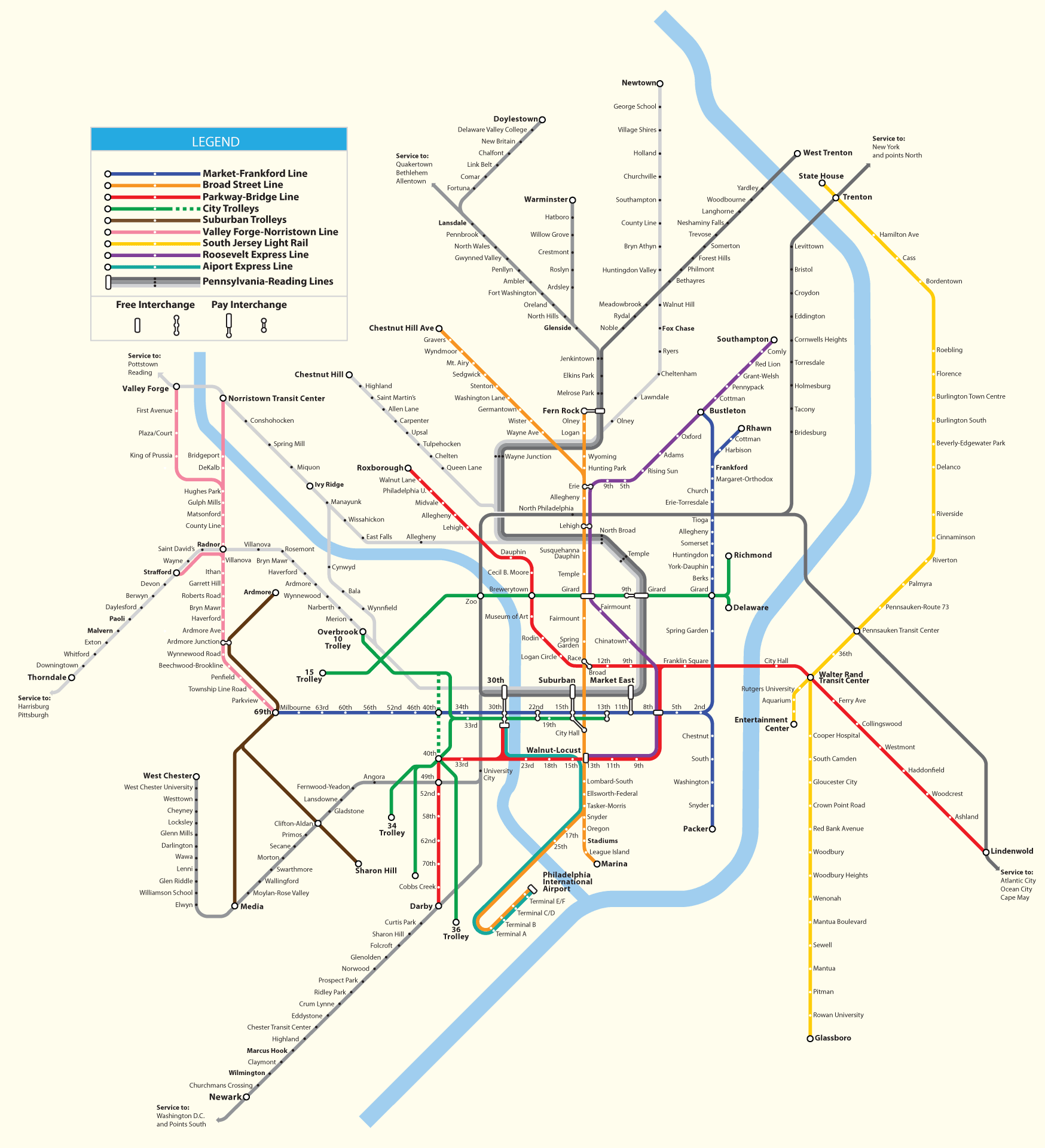 Philly Subway Map.Philadelphia Regional And Rapid Transit Fantasy Map Greater Prt