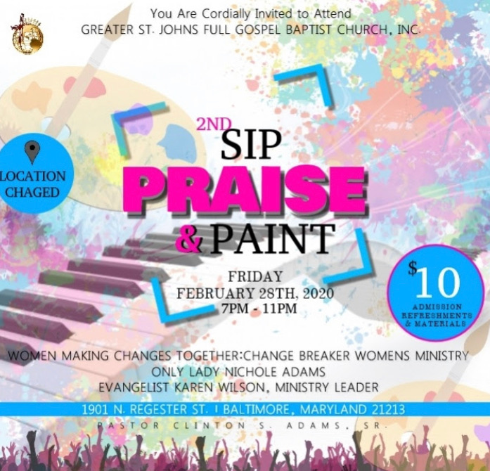 Women's Ministry 2nd Annual Sip Praise and Paint