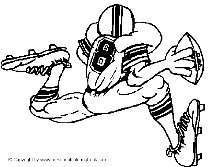 Free coloring pages for NFL football and Seattle Seahawks