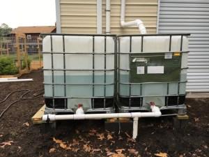 Large Rainwater Harvesting System - Left Side