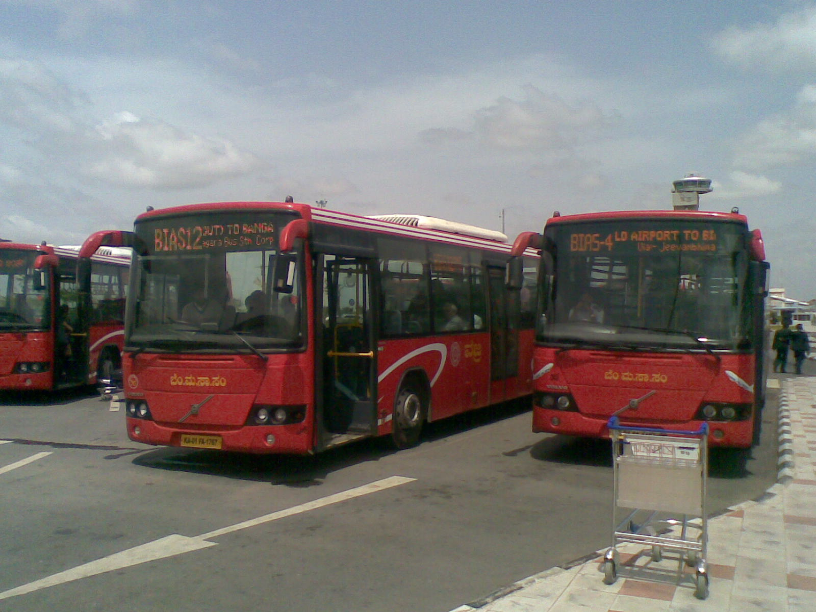 Bus bay at the Bangalore Airport