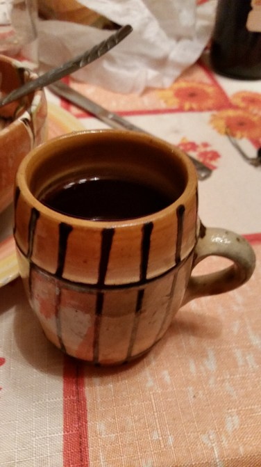 Mulled wine is better from a local clay mug.