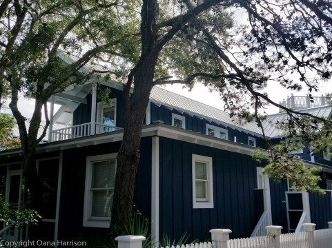 Seaside Ink Blue House