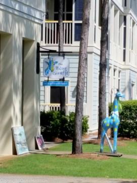 Watercolor, FL - Blue Giraffe