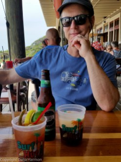 Miramar Beach, Surf Hut bloody Mary and beer