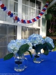 Festive Blue Hydrangeas
