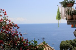 Airing out some laundry in Positano