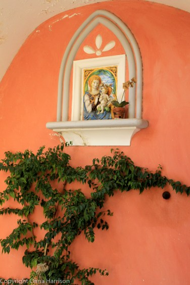 Positano Madonna and child fresco