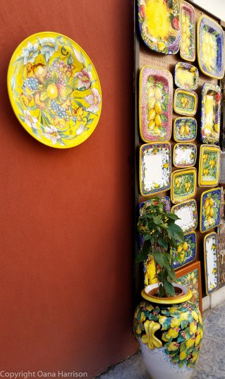 Positano painted pottery