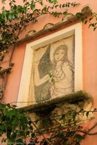 Positano girl mosaic