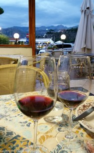 Sorrento dinner with wine