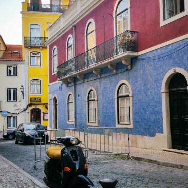 Lisbon colorful houses