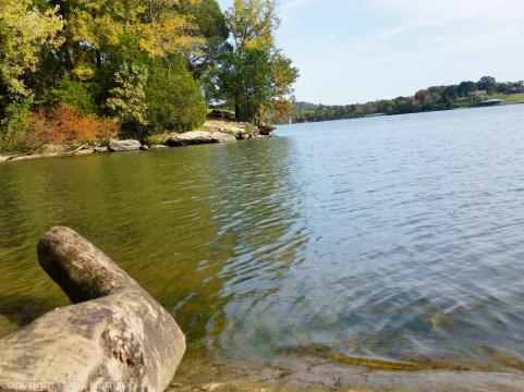Carl Cowan Park, by the water