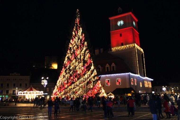 Brasov Romania Christmas Downtown