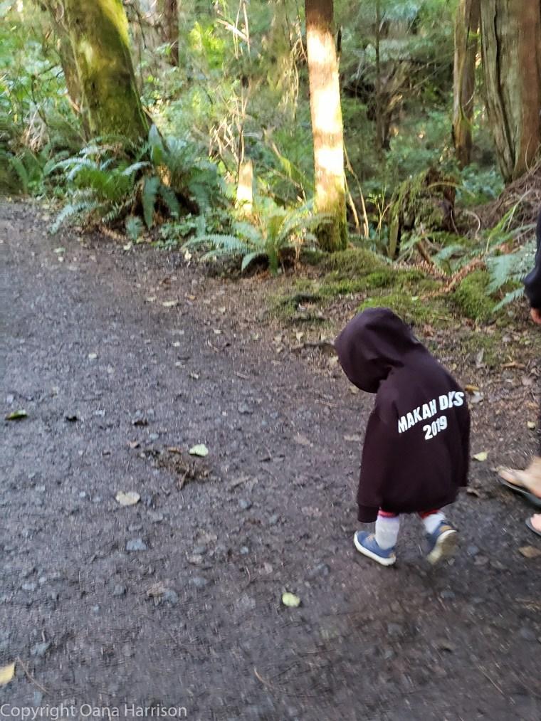 Little-Makah-child-walking-to-Cape-Flattery