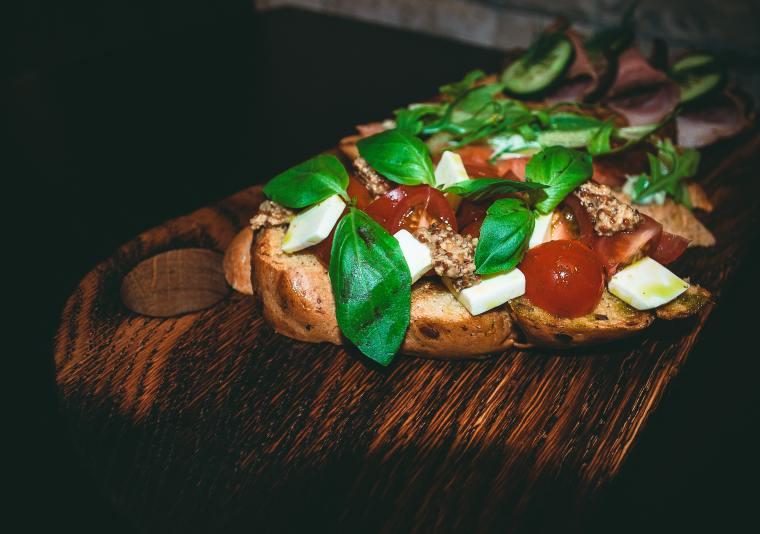 Tomato-basil-cheese-sandwich