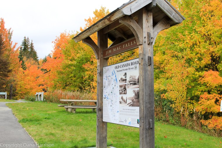 Old Canada Road fall colors Jim Mac Falls picnic area