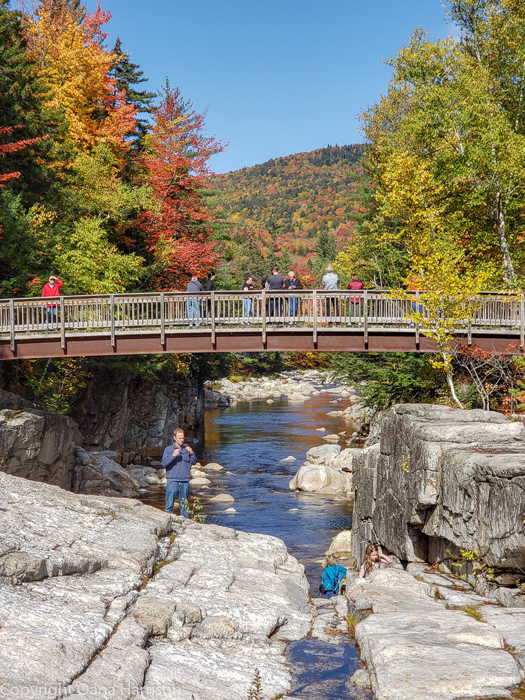 Rocky Gorge in the fall New Hampshire