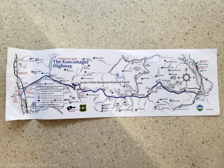 Kancamagus Highway map