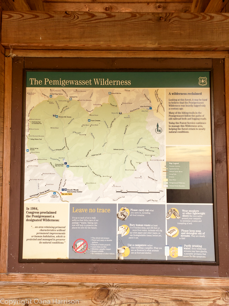 The Pemigewasset Wilderness informational map